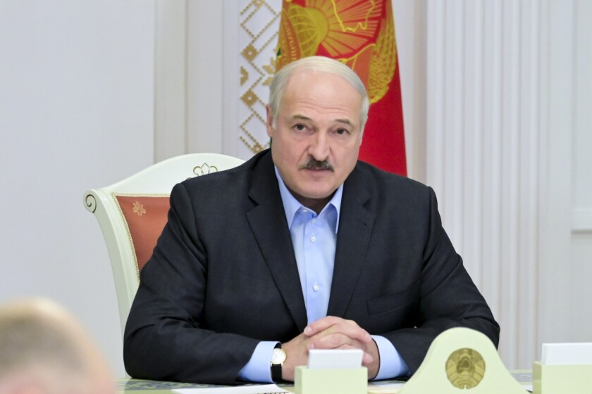 Belarusian President Alexander Lukashenko has dismissed protesters as Western puppets.