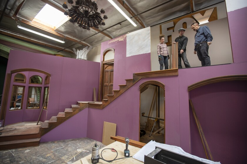 Designing the set for 'Arsenic and Old Lace'
