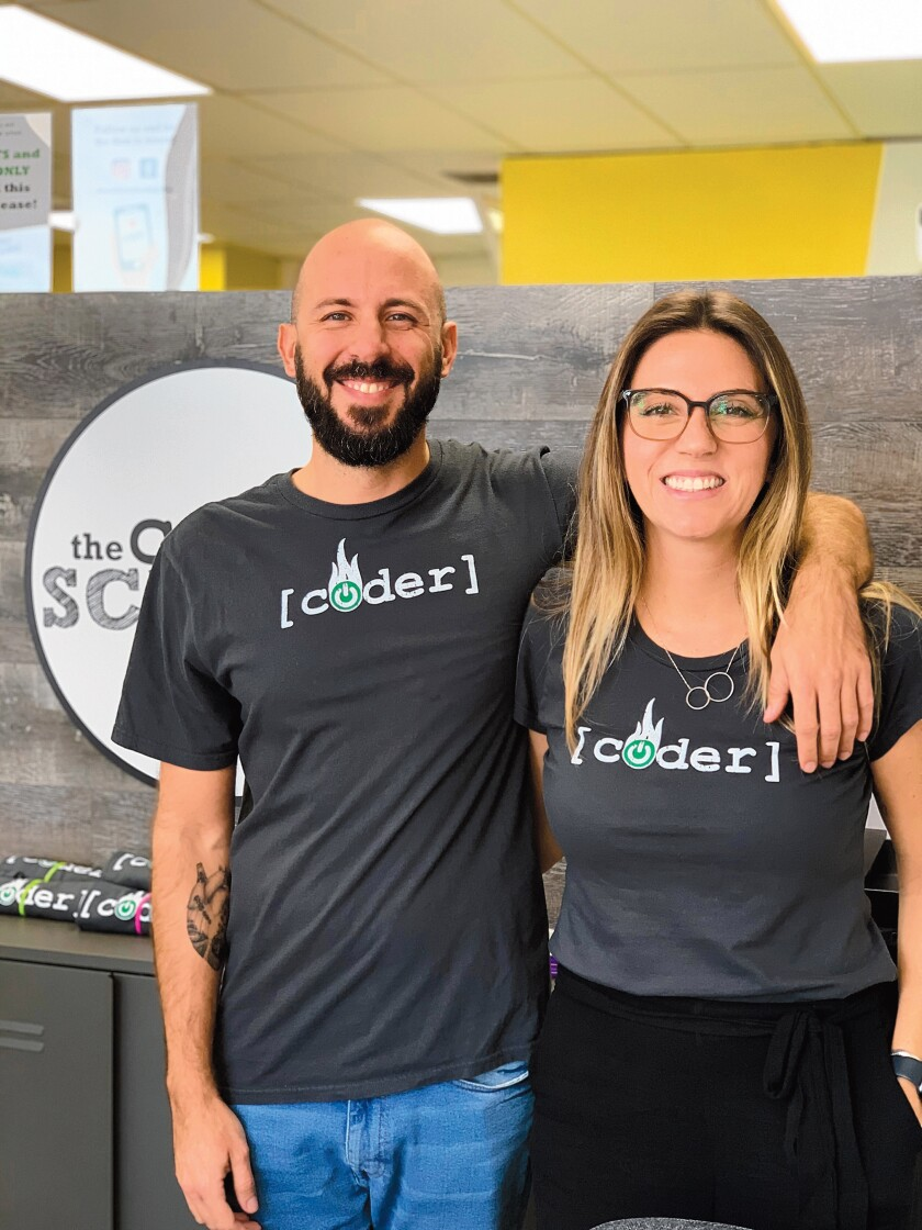 Artur Pedrosa with his wife and business partner, Aline Pampalon, operate theCoderSchool at 7484 La Jolla Blvd. in the Bird Rock/La Jolla area.