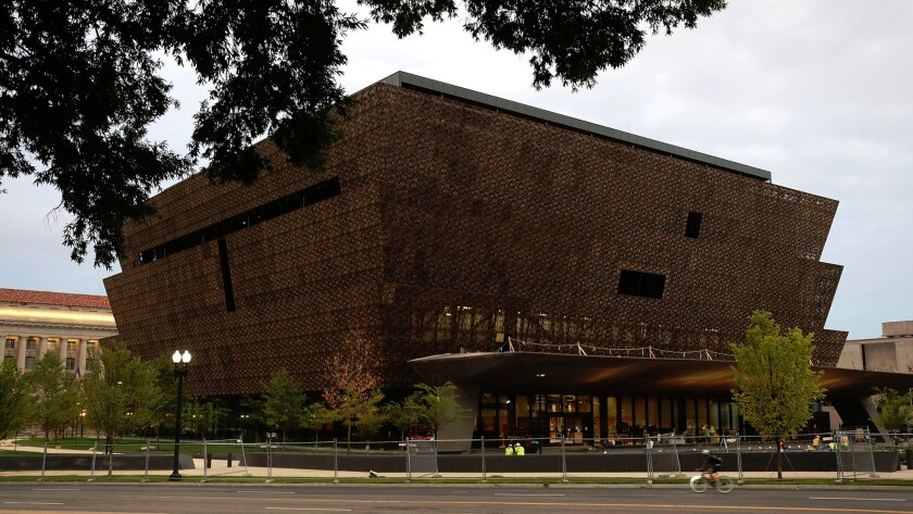 The soon-to-open Smithsonian National Museum of African American History and Culture in Washington, D.C.