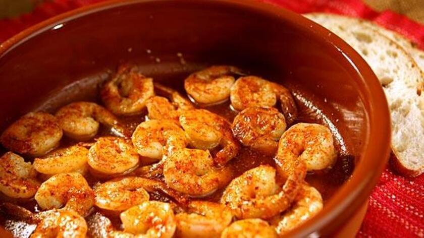 Make Paula Wolfert's sizzling shrimp dish for dinner tonight