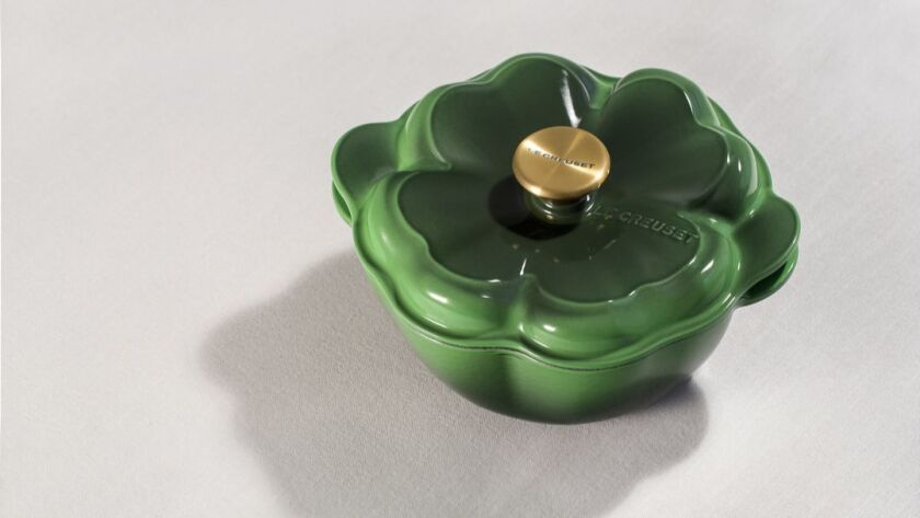Creuset cast iron clover cocotte, $200 at Williams-Sonoma Home.