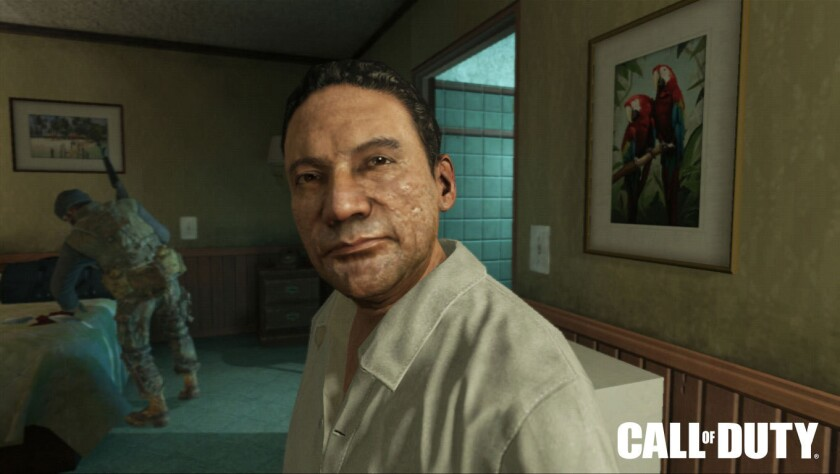 """This image shows Manuel Noriega as depicted in Activision Blizzard's 2012 game """"Call of Duty: Black Ops II."""""""