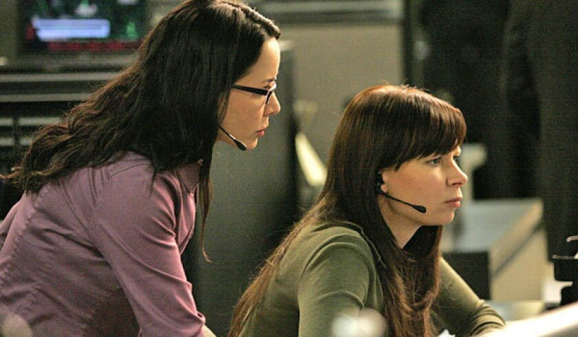 "Mary Lynn Rajskub, right, with Janeane Garofalo in the seventh season of ""24."""