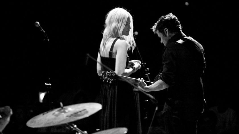 """""""For the Sender"""" creator Alex Woodard (left) is shown with fellow singer-songwriter Molly Jenson. They will be joined on stage by various musical friends Friday at La Paloma Theater in Encinitas."""