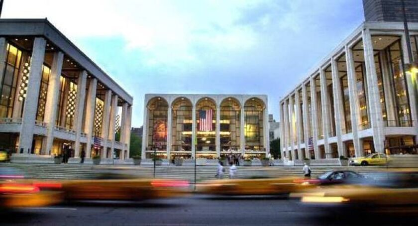 The Lincoln Center in New York is home to the Metropolitan Opera.