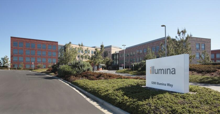 Headquarters of Illumina, San Diego's largest life science company.