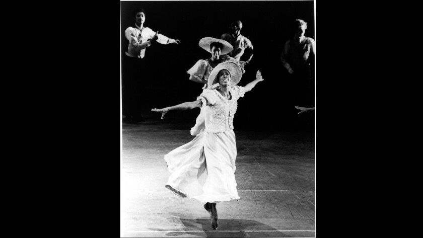 "Judith Jamison in Alvin Ailey's ""Revelations."" (Alvin Ailey Dance Foundation Archives)"