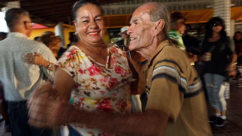 YABUCOA, PUERTO RICO-SEPT. 17, 2018--In Yabucoa, dancers enjoy the music which was silenced after Hu