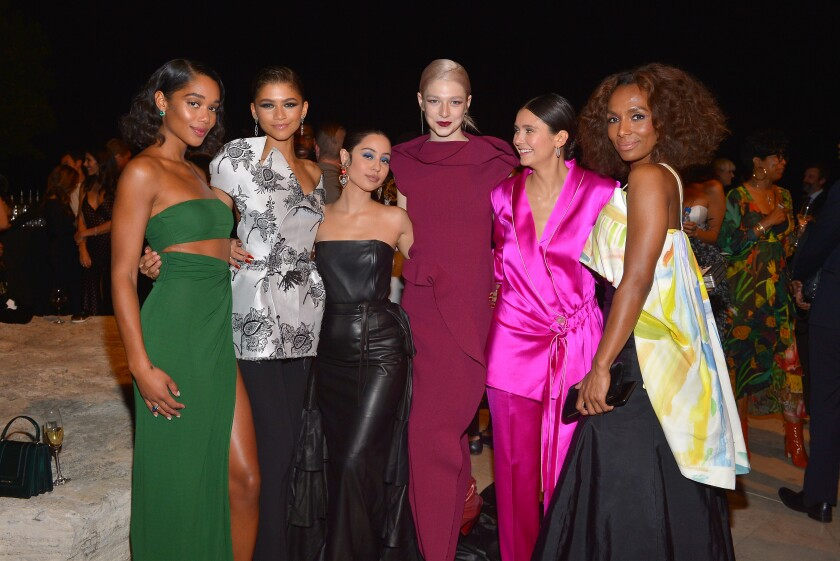 Laura Harrier, Zendaya, Alexa Demie, Hunter Schafer, Nina Dobrev and Janet Mock
