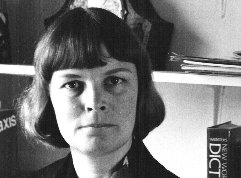 Adele Shank, in an undated photo from her early days at UC San Diego.