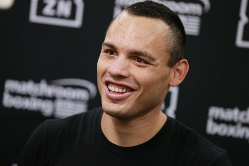 Julio Cesar Chavez Jr. attends a workout showcase Oct. 22 at Wild Card Boxing Club in Hollywood.