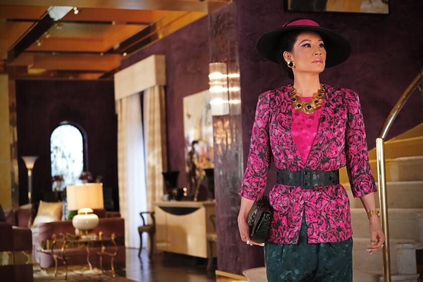"Lucy Liu as Simone in the CBS All Access series ""Why Women Kill."""