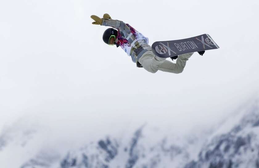 Shaun White launches out of the halfpipe during competition.
