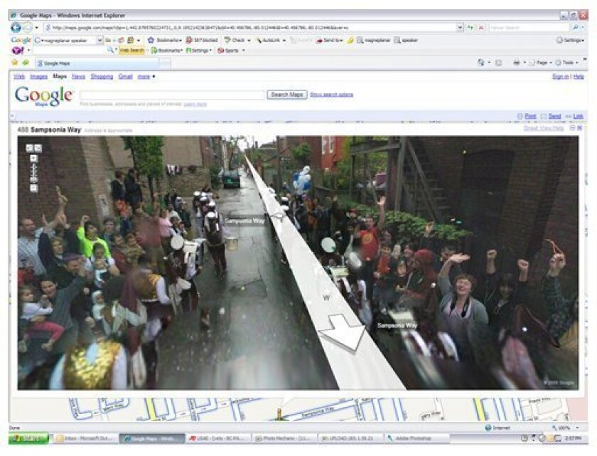 Artists stage street scenes to lurk in Google maps - The San ... on road map usa states maps, msn maps, gogole maps, googlr maps, googie maps, online maps, waze maps, ipad maps, search maps, bing maps, goolge maps, android maps, gppgle maps, aerial maps, stanford university maps, amazon fire phone maps, aeronautical maps, microsoft maps, iphone maps, topographic maps,