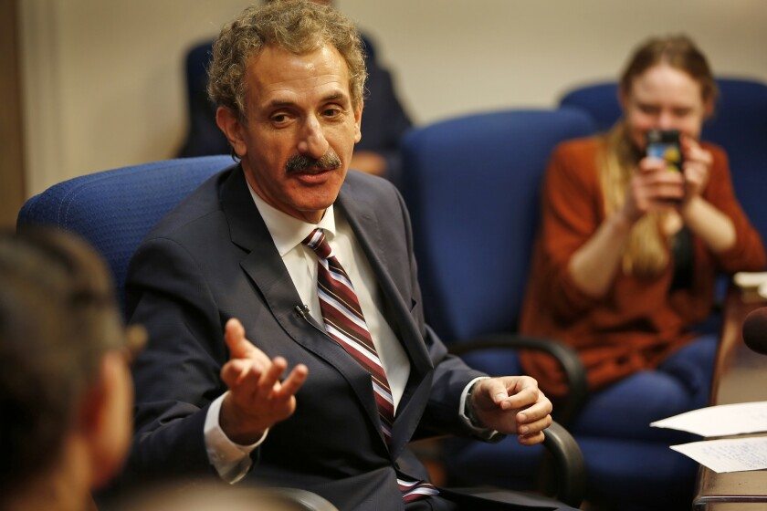 City Atty. Mike Feuer, shown in 2017,  filed paperwork Monday to begin raising money to run for mayor in 2022.