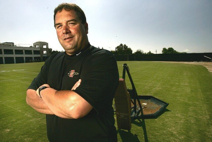 Brady Hoke knows he has his hands full at SDSU, leading a program that  hasn't enjoyed a winning season since 1998.