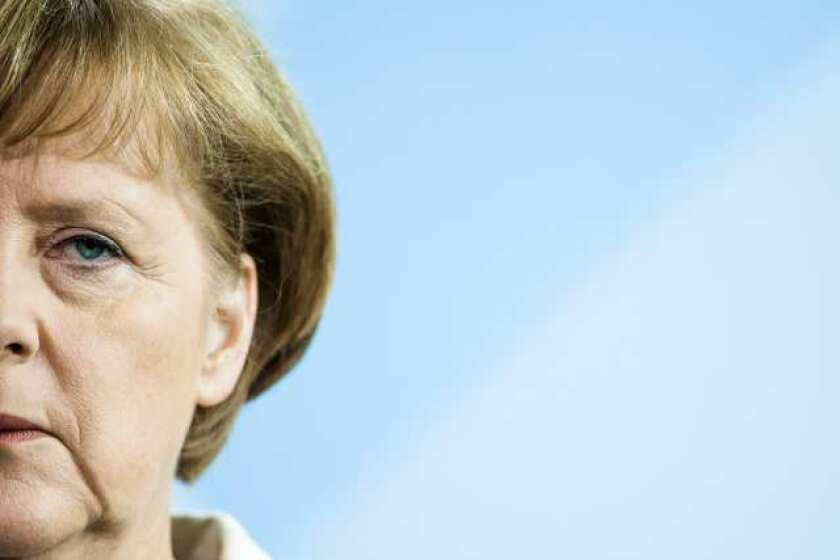Merkel calls more more political integration in Europe