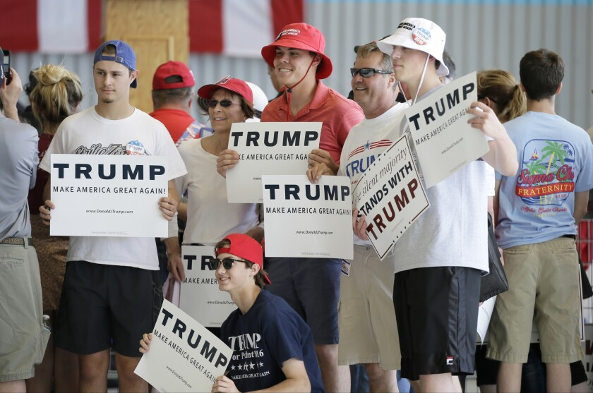 Trump supporters in Omaha, Neb.