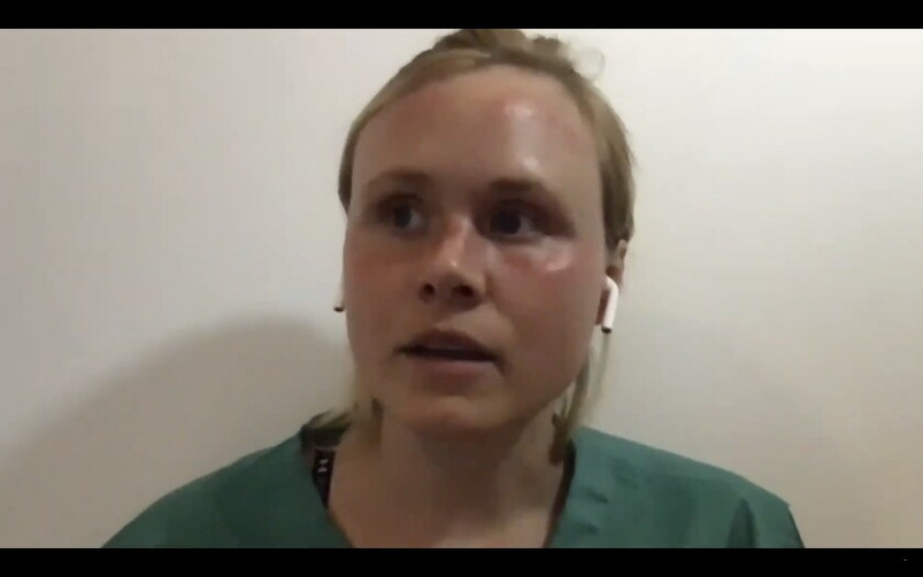 """Alison Pill in """"The Line."""""""