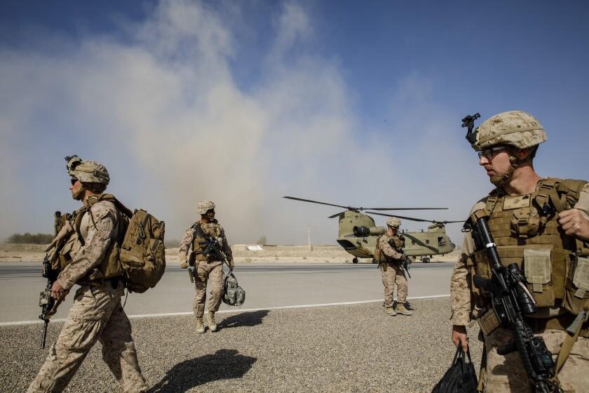 U.S. Marines in Afghanistan.