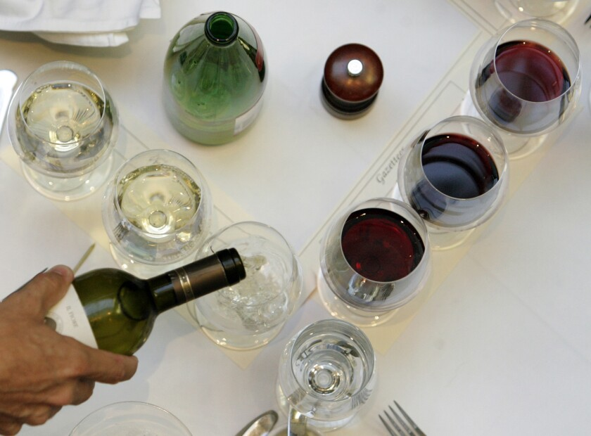 The price of wine by the glass in restaurants rose in the last half a year, according to a new report.