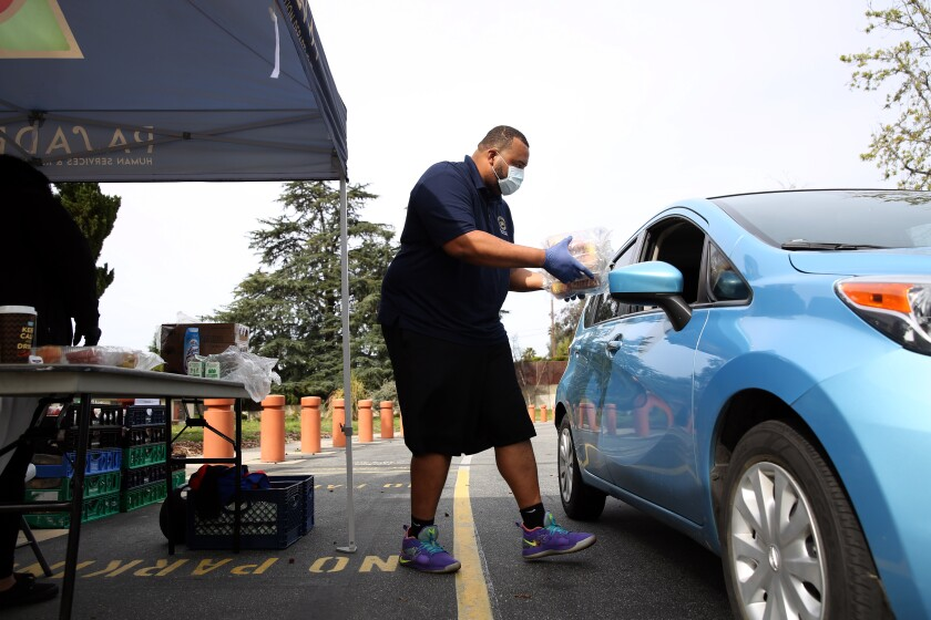 Grab-and-go meal program for Pasadena Unified School District students