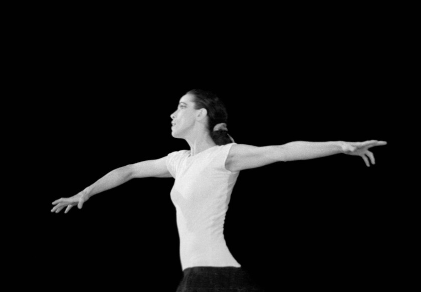 """Martha Graham performing the solo dance piece """"Immediate Tragedy"""" in 1937."""
