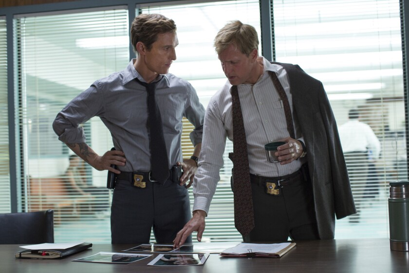 """Matthew McConaughey and Woody Harrelson in a scene from HBO's """"True Detective."""""""
