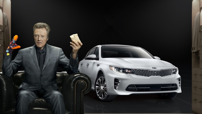 """Christopher Walken adds """"pizzazz"""" to Kia Motors' Super Bowl commercial for the all-new 2016 Optima midsize sedan"""