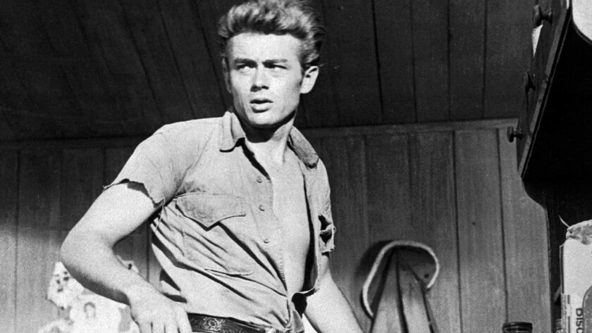 James Dean in 1955, in black and white