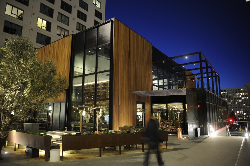 LOS ANGELES-CA-JANUARY 12, 2016: Exterior of Otium in downtown Los Angeles on Tuesday, January 12, 2