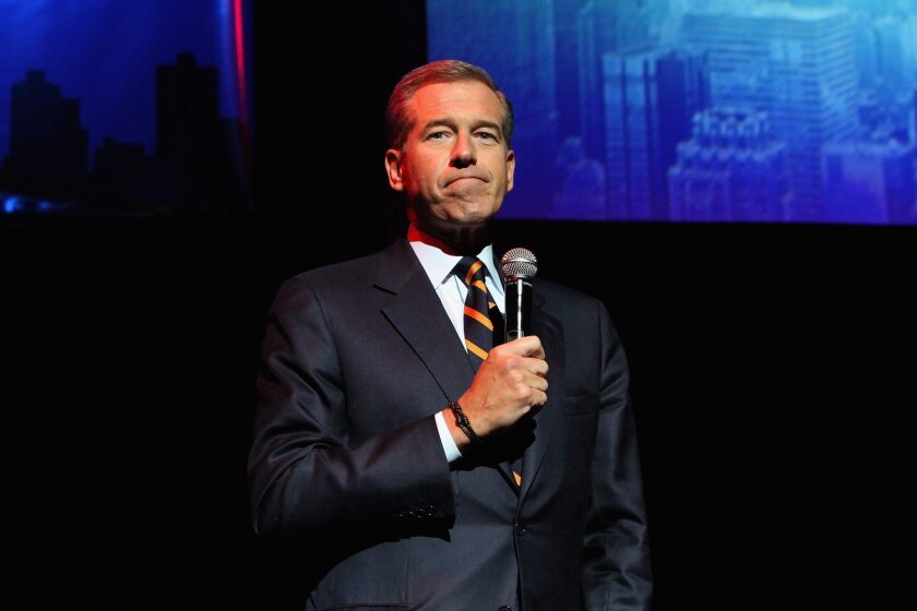 NBC news anchorman Brian Williams has taken himself off the evening newscast temporarily as he is investigated over comments he made that misled the public.