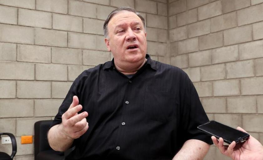 Pompeo dice que EE.UU. no busca cambio de régimen en Irán por la vía militar