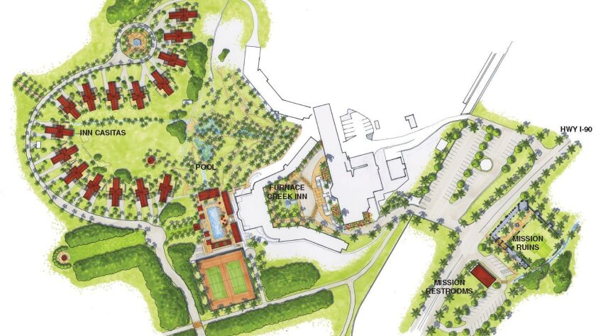 This artist's rendering shows where 22 casitas will be built at the resort that will be known as the