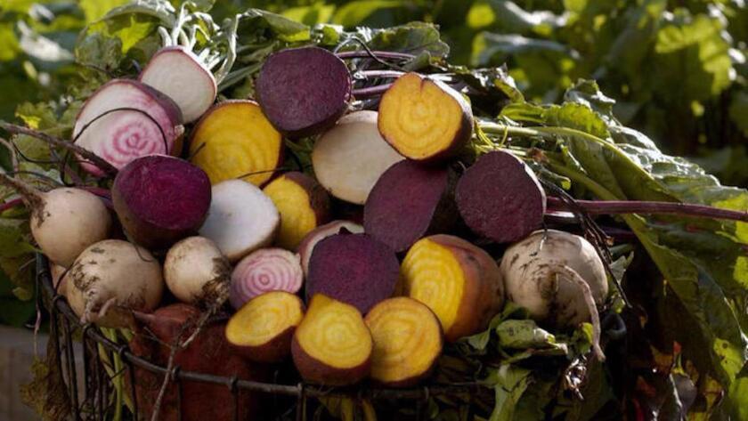 Cut beets.