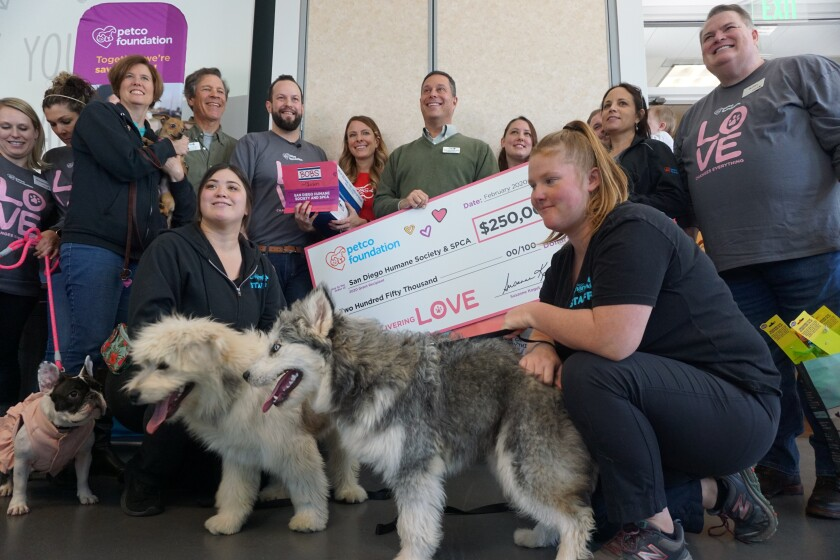 San Diego Human Society awarded $250,000 grant