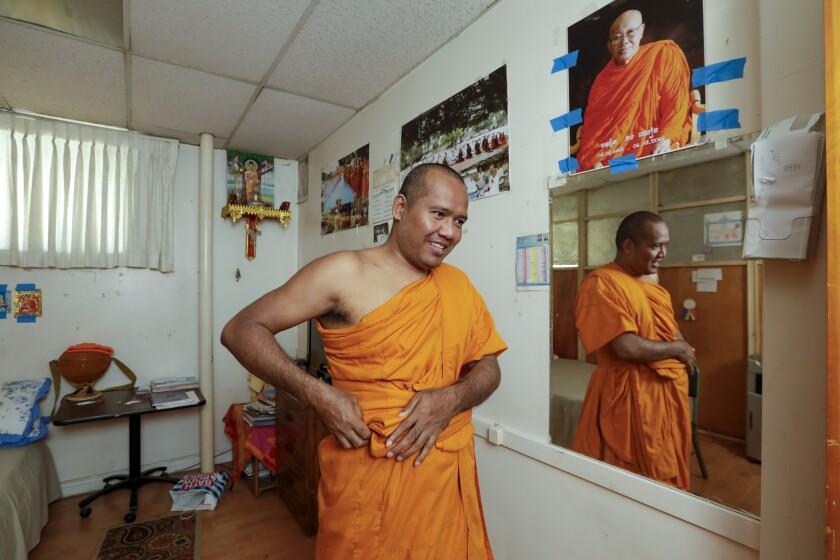 Head monk Thet Sim at Khemara Buddhikarama