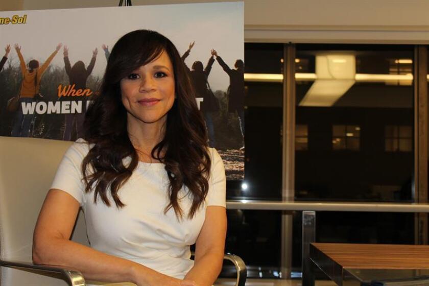 La actriz estadounidense Rosie Perez afirmó hoy en una entrevista con Efe. EFE/Archivo