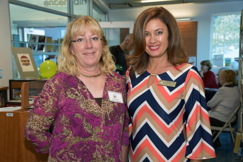 Friends of Solana Beach Library Board President Vickie Driver, Corrine Busta representing San Diego County Supervisor Kristin Gaspar