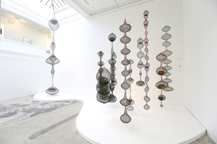 """Large sculptures by Ruth Asawa are part of """"Revolution in the Making: Abstract Sculpture by Women, 1947-2016,"""" at Hauser Wirth & Schimmel."""