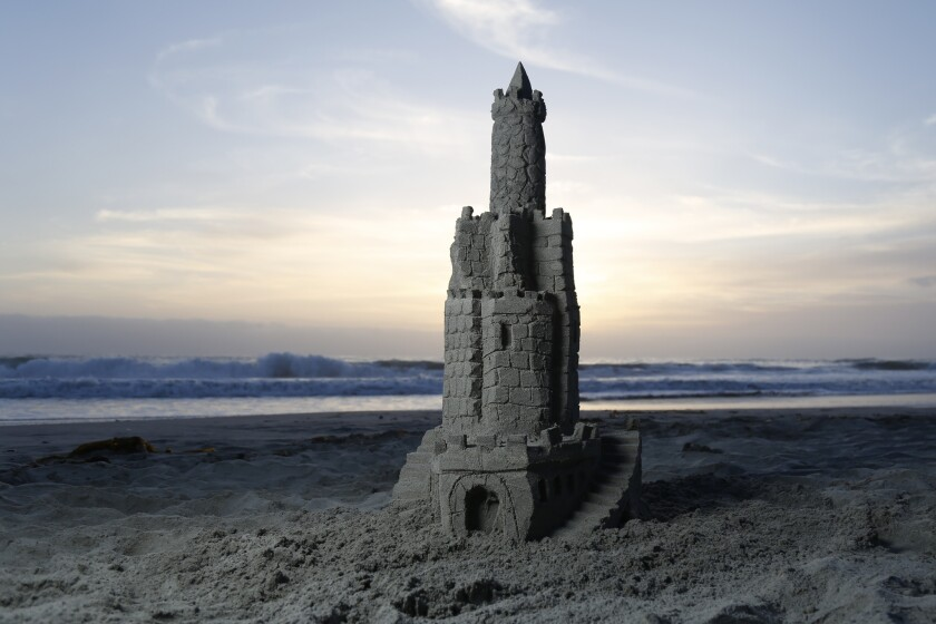 The daters' sand castle