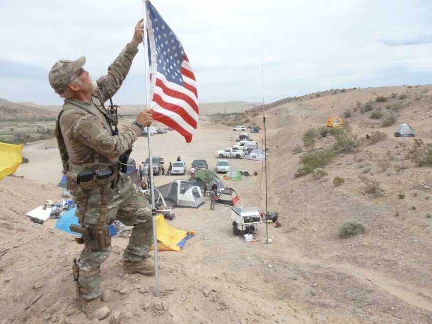 Jerry DeLemus, a 59-year-old self-employed construction worker from Rochester N.H., has been appointed the commander of a camp where armed supporters of Nevada rancher Cliven Bundy live and patrol his ranch and cattle. *