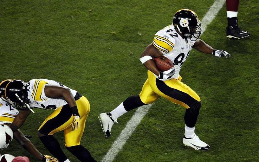 Harrison, que tiene 80.5 capturas para los Steelers, participó en 40 jugadas en 14 partidos esta temporada, en comparación con las 587 del año pasado. EFE/Archivo