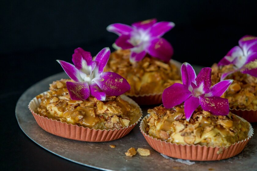 Cinco Leches Cakes prepared by Vivian Hernandez-Jackson owner chef of Azucar, a Cuban style patisserie, on Wednesday in Ocean Beach, California.