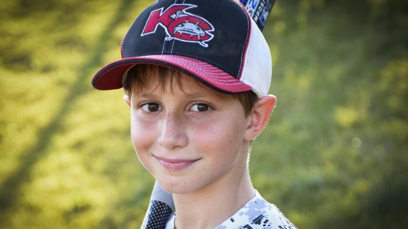 Caleb Schwab murió el domingo pasado en un tobogán de agua en Kansas City, Kansas (David Strickland).