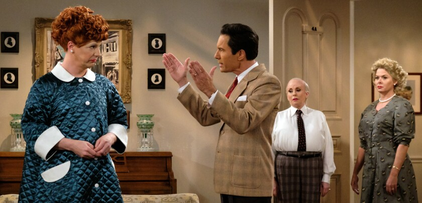 """Sean Hayes, left, Eric McCormack, Megan Mullally and Debra Messing in """"Will & Grace"""" on NBC."""