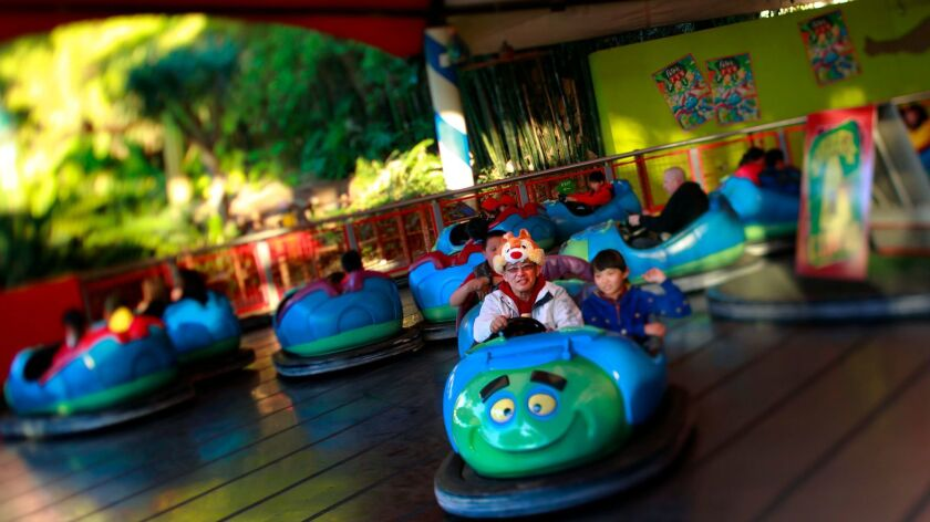 A ride for all ages, Tuck and Roll's Drive 'em Buggies at A Bug's Land at Disney California Adventur