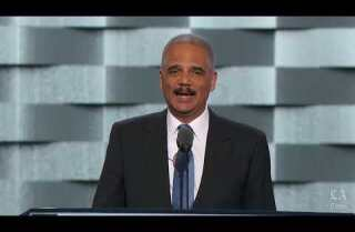 Watch: Eric Holder makes case for Hillary Clinton at the Democratic National Convention
