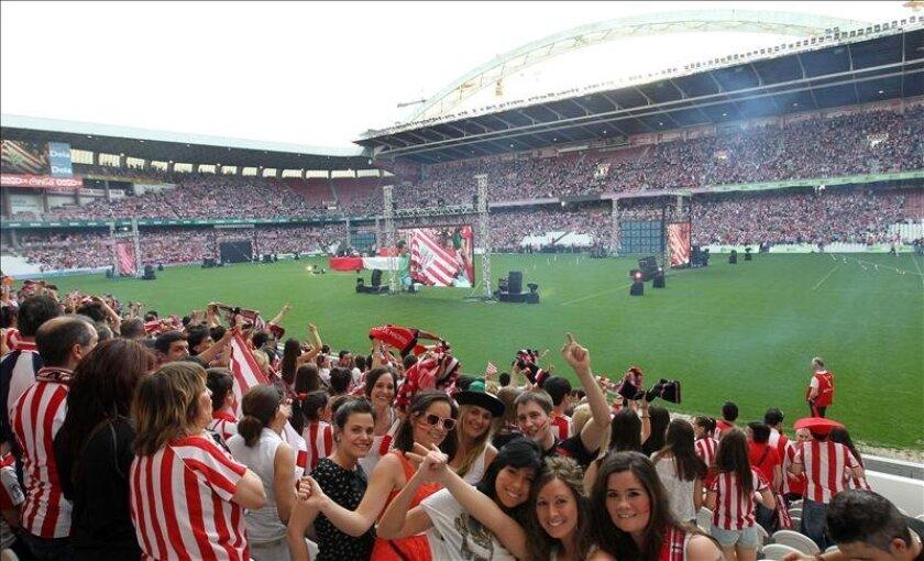 Vista del estadio San Mamés en Bilbao. EFE/Archivo